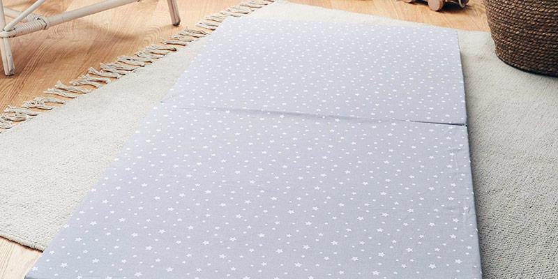 KAIXIN Matelas Pliant en Coton Ultra Doux pour Enfants Ou Tapis De Sieste Adulte Tapis De Couchage De Bureau avec Oreiller Amovible /Étoile Bleue